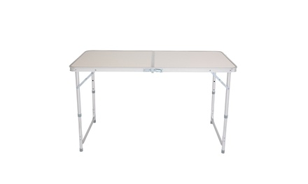 4Ft Portable Camping Table Multipurpose Folding Table White
