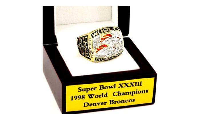 1998 Denver Broncos XXXII Super Bowl Football Championship
