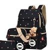 Coofit Vintage Canvas Backpack Shoulder Bag Messenger Bag Purse Large 3PCS Set