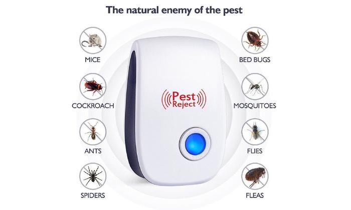 6PCS Ultrasonic Pest Repeller Electronic Rat Bug Cockroach Mouse Reject Defender