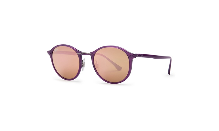 a23723836 Ray-Ban RB4242 Light Ray Sunglasses (Violet/Copper Mirror) | Groupon
