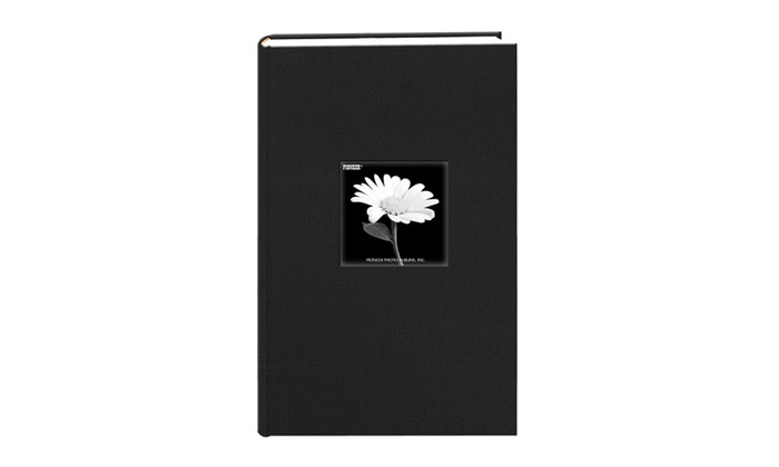Fabric Frame Cover Photo Album 300 Pockets 4x6 Photos Deep Black
