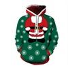 3D Digital Print Casual Christmas Hoodie Pullover Sweatshirt