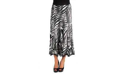d2061da7dd Shop Groupon 24seven Comfort Apparel Flowy Zebra Print Midi Maternity Skirt