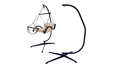 Hammock C Shape Frame Stand for Hanging Air Chair f89d2104-6c99-4551-a142-20385404da1f
