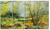 Green Yellow Forest - Landscape Glossy Metal Wall Art