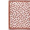 "Burnt Orange Polka Dots Retro Afghan Throw Blanket 50"" x 60"""