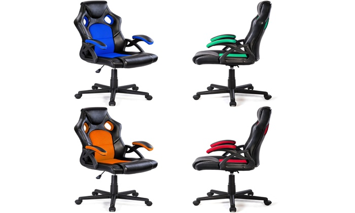 Costway PU Leather Executive Bucket Seat Racing Style Office ... on blue race car desk chair, retro style office chair, racing computer chair, racing furniture, camaro racing car office chair, antique style office chair, audi racing office chair, gt omega pro racing office chair, sitting in a chair, racing seats, racing chair xbox one, western style office chair, car style office chair, racing style swivel chair,