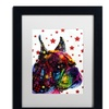 Dean Russo 'Profile Boxer II' Matted Framed Art