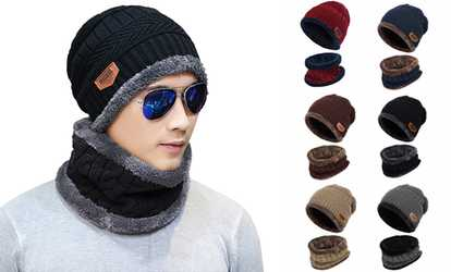 7a510bb6351 Shop Groupon Outdoor Fashion Beanie Hat Fleece Winter Warm Balaclava Scarf  Neck Women Men