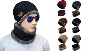 Outdoor Fashion Beanie Hat Fleece Winter Warm Balaclava Scarf Neck Women Men