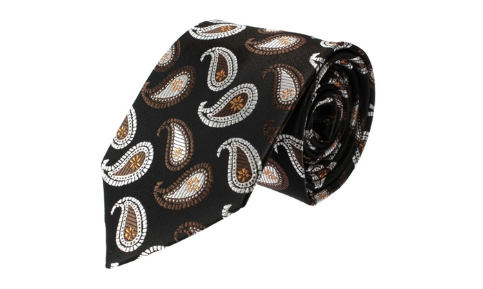 Glennbrook Mens Necktie Vintage Paisley Series Fashion Tie