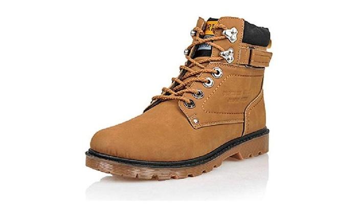 JieQiu Men Lace Up Martin Boots 1202