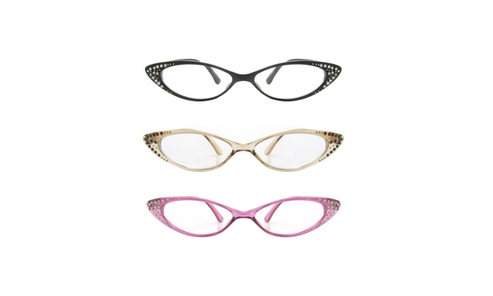f4e0cc10b60 Up To 50 Off On Rhinestone Colorful Cat Eye R Groupon Goods