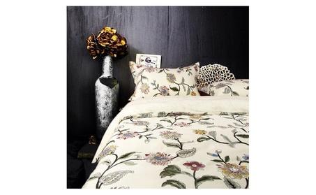 Riho 100% Cotton Beige Floral Bed Sheets Duvet Covers Bedding Sets ec123d7c-4b8d-49f6-9423-fa1d03ae6c10