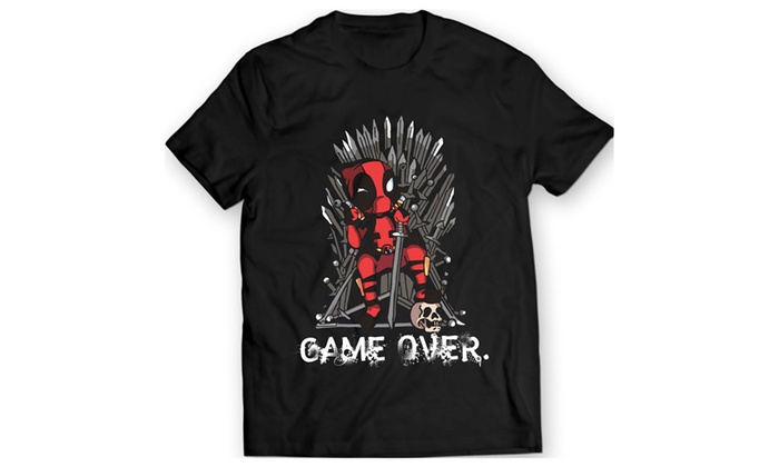Deadpool vs Game of Thrones T-Shirt Marvel Comics Shirt 100% Cotton
