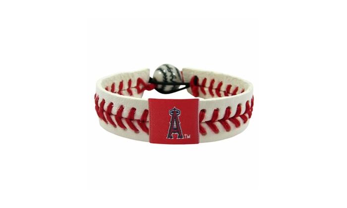 MLB Classic Gamewear Leather Baseball  Bracelet