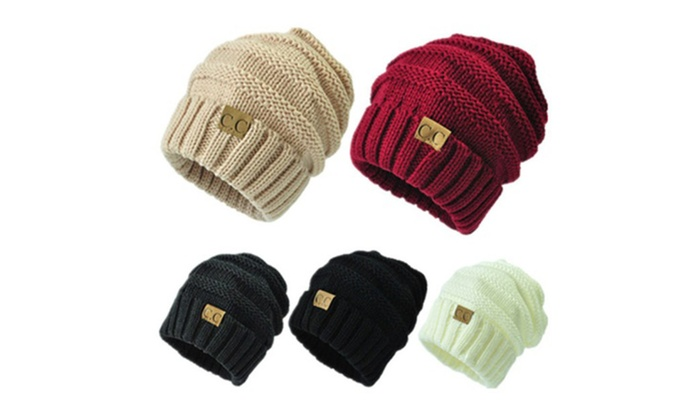 5076d09bd1e9c7 C.C Trendy Warm Chunky Soft Stretch Cable Knit Beanie Skully | Groupon