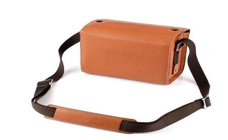 Coffee Color Luxury Digital Camera Leather Case Bag 5088127b-1bd3-4205-91c0-88dbb9b2a2c8
