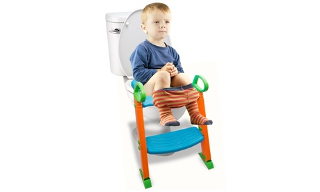 Potty Trainer Toilet Chair Seat with Sturdy Non Slip Step Stool Ladder