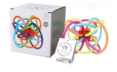 Manhattan Toy Winkel Rattle and Sensory Teether Toy 2efcad07-291b-4279-b0e4-63190014eb7a