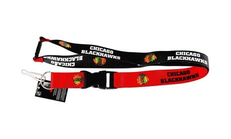 Chicago Blackhawks Reversible Lanyard Keychain Bage Holder NHL 7e26c9e4-1d3d-4545-b888-029b04ef8a5e