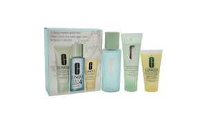 Clinique 3-Step Skin Care System For Skin Type 4 Oily