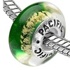 Sterling Silver 'Elegant' Murano-style Glass Bead