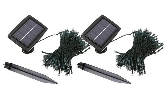 Solar Powered LED Outdoor Lighting String Bulb Lights