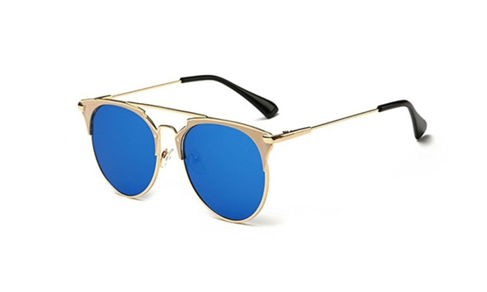 Mirror Fashion Sunglasses Gold Frame For Men And Women