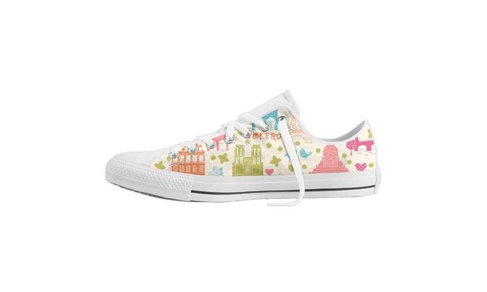 Love Paris Doodles Baseball Unisex Nonslip Canvas Shoes Sneaker