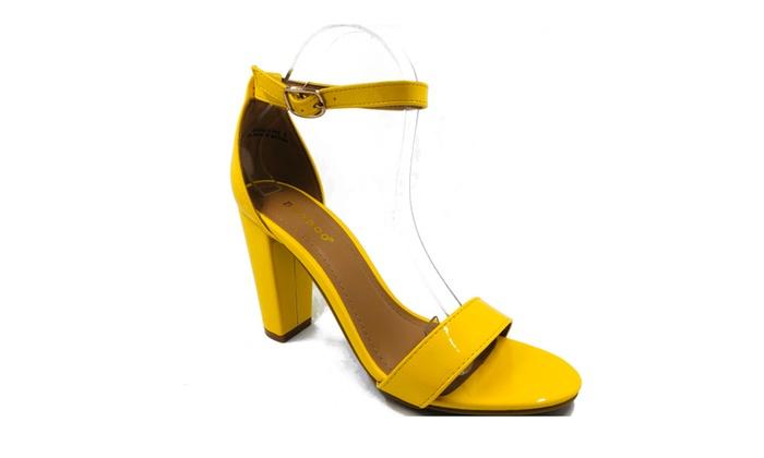 324522bd7b0 ... Women s Block Heel Single Band Ankle Strap Open Toe Sandal Rampage-04