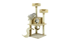 "GoPetClub 55"" Cat Tree Condo Furniture"