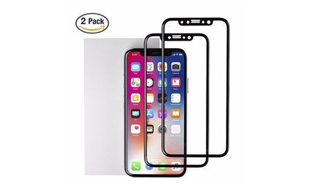 (2 Pack) iPhone X 3D Curved Tempered Glass Full Coverage 73012c80-7ad7-4cf1-acc1-a6bd66cafd3c