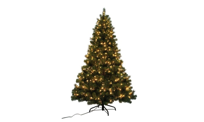 check out d1755 94f0e 9 ft. Indoor LED Spruce Artificial Christmas Tree