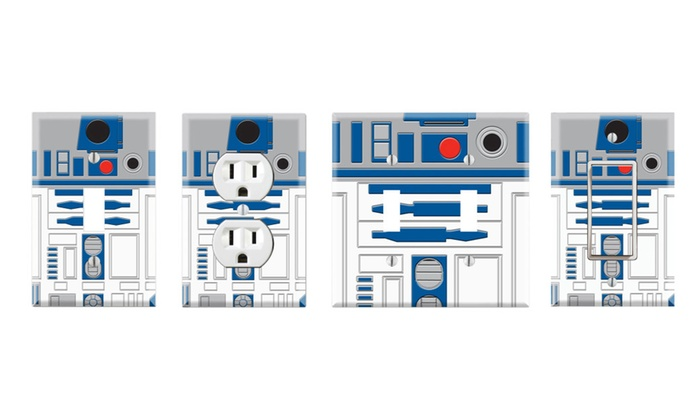 Toggle/Rocker Switch/Outlet Cover Decor Wall Plates - R2-D2