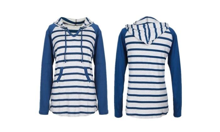 Stripe Time Hooded Sweatshirt