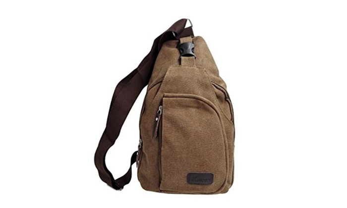 Outdoor Sports Casual Canvas Unbalance Backpack