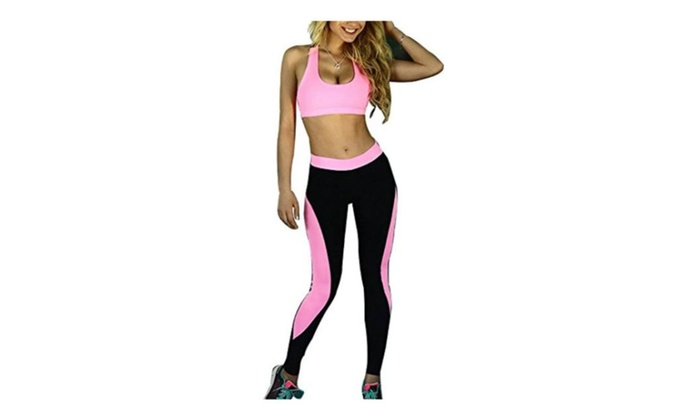 Women's Sexy Casual Sport Workout Fitness Gym Yoga Pants Suit