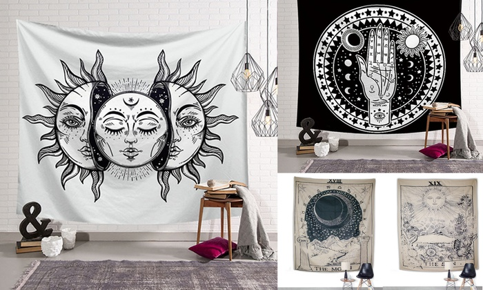 Up To 66% Off on Tarot Card Tapestry Wall Hang    | Groupon