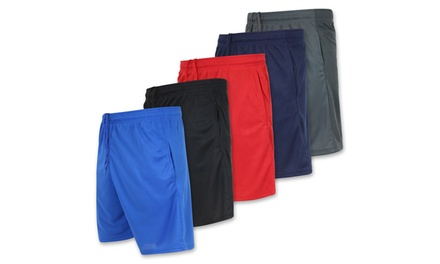 Real Essentials Boys' 5-Pack Mesh Active Shorts with Pockets