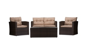 Imperia PE Rattan Outdoor Patio Set (4-Piece)