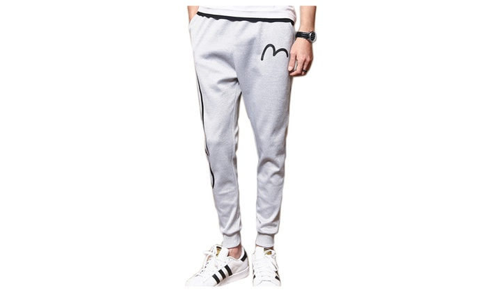 Men's PullOnStyle Stylish Skinny Mid Rise Graphic Pants