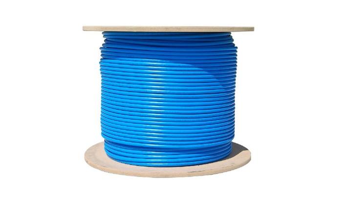 Bulk Cat6a Blue Ethernet 10 Gig Solid Utp 500mhz 23 Awg Spool