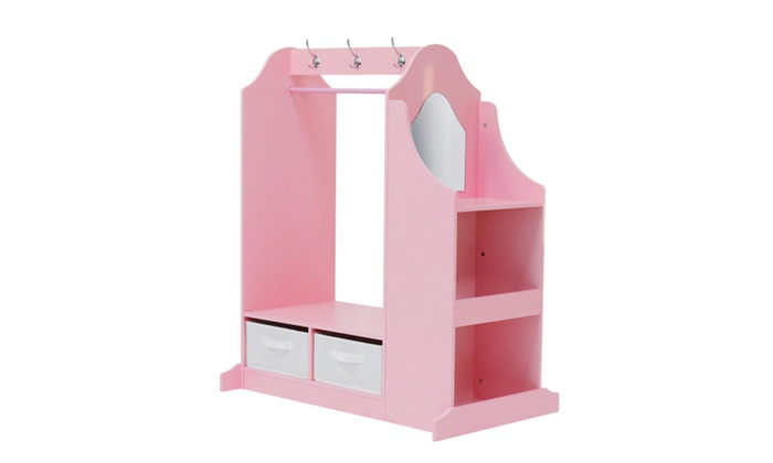 ... Kid Armoire Dress Up Closet Pretend Play Mirror Clothes Toy Store ...