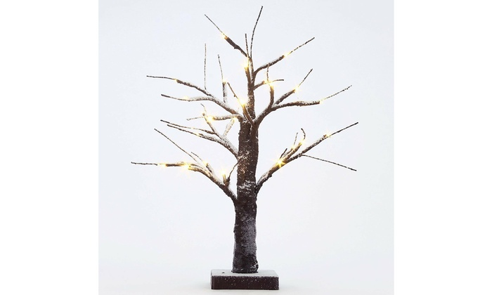 Up To 10 Off On Led Snow Bonsai Tree Light 15 Groupon Goods