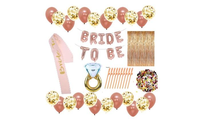bachelorette bridal shower decoration set plus free printable games