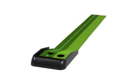Indoor Training 8 Ft. Golf Practice Putting Green Mat W/ Ball Return 6a406a1d-fea2-41f8-986c-fd463bf47fd0