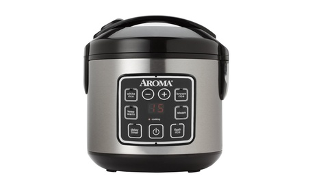 Aroma 8-Cup (Cooked) Digital Rice Cooker Stainless Steel Exterior edb8e17e-305a-45f5-b895-106a1853f33b