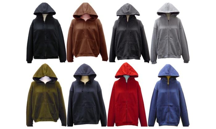 SPECIEN Adult CVC 330 GSM Hooded Covered Full Zipper Sweatshirt Jacket